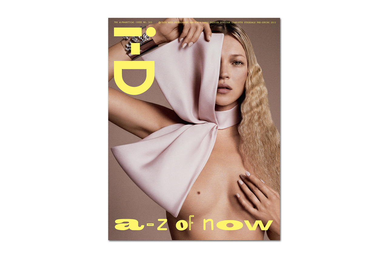 """Kate Moss Covers i-D Magazine's 2013 Pre-Spring """"Alphabetical"""" Issue"""