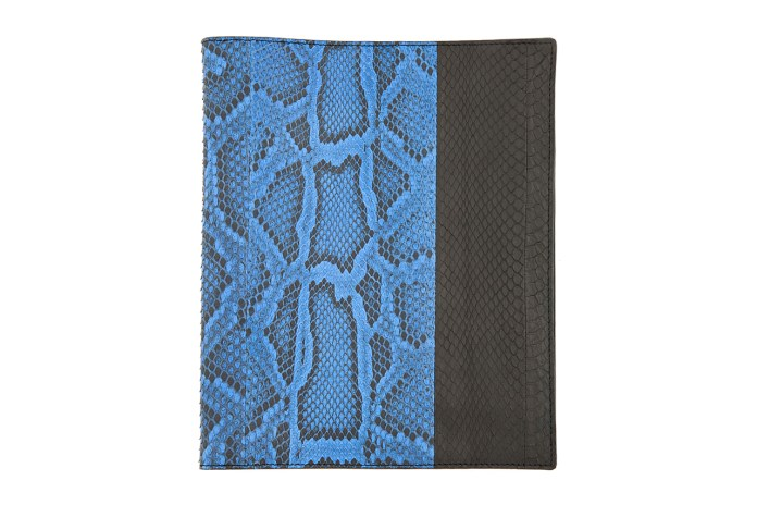 Lanvin Black and Blue Pythonskin iPad Case