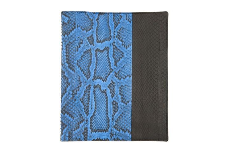 Lanvin Black and Blue Pythonskin iPad Case