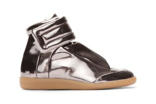 Maison Martin Margiela Metallic Pewter Leather Sneakers