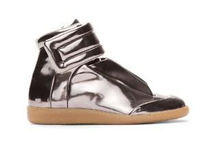 Maison Martin Margiela Metallic Pewter Leather Sneakers