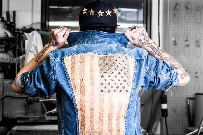 "Modern Vice ""Rebel Yell"" Star-Studded Jean Jacket"