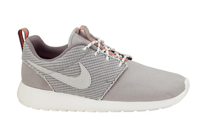 Nike Roshe Run Canvas Grey/Total Crimson