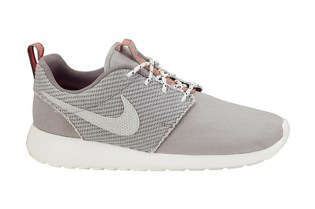Nike Roshe Run Canvas Grey/Total Crimson