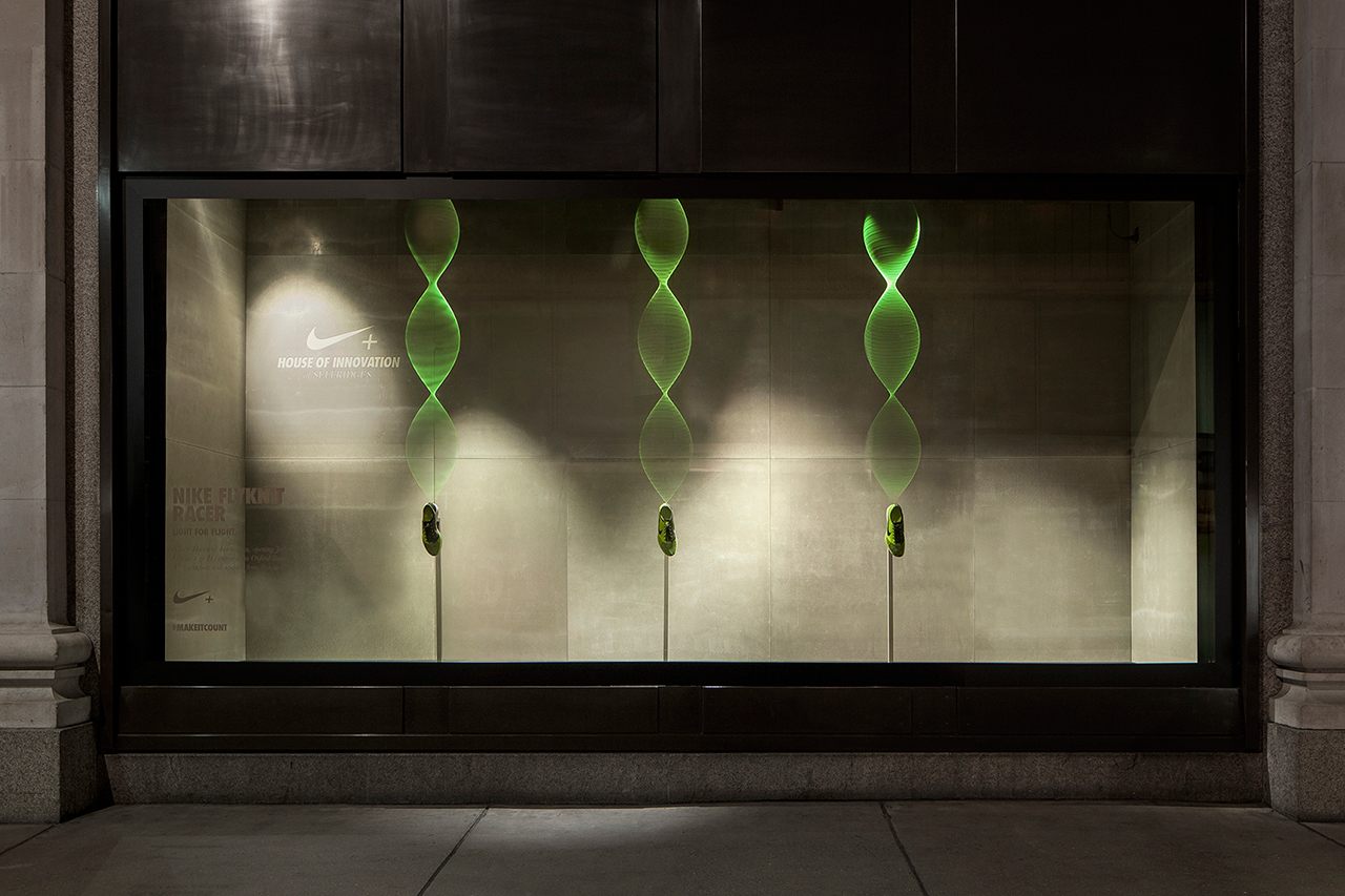nikes interactive display windows by staat