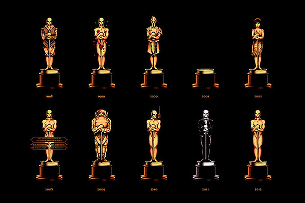 olly mosss academy awards poster showcases 85 years of oscars