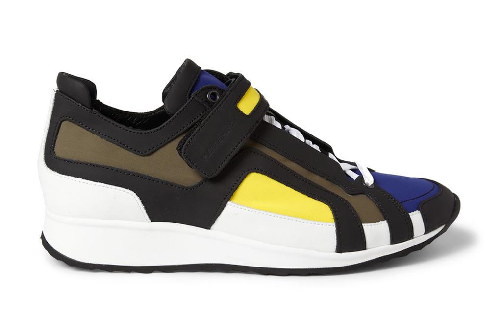Pierre Hardy Panelled Neoprene Sneakers