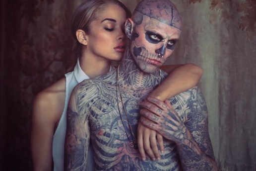 "Rick Genest and Jasmine Sanders Shot by Matt Plunkett ""Beauty & the Beast"" Behind-the-Scenes Video"