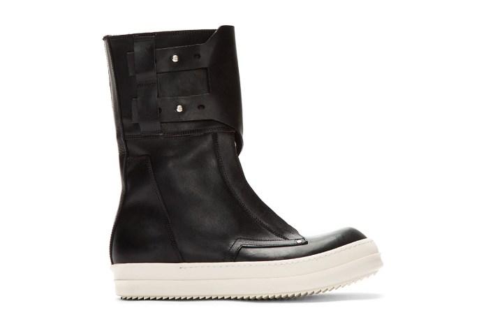 Rick Owens Black Monk Strap Military Dunk Boots