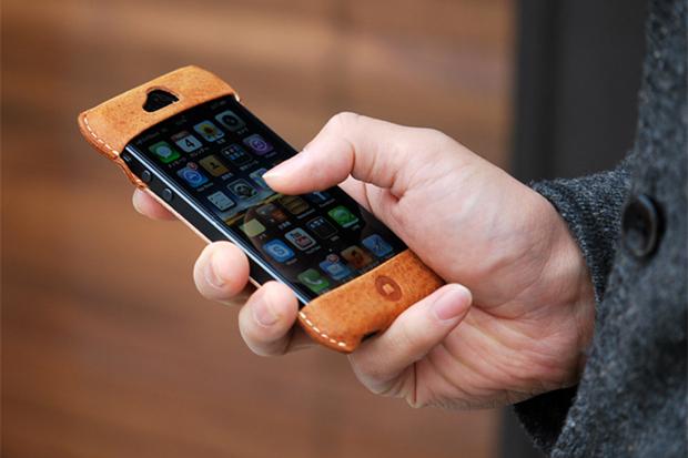 Roberu Vintage Camel Leather iPhone 5 Case