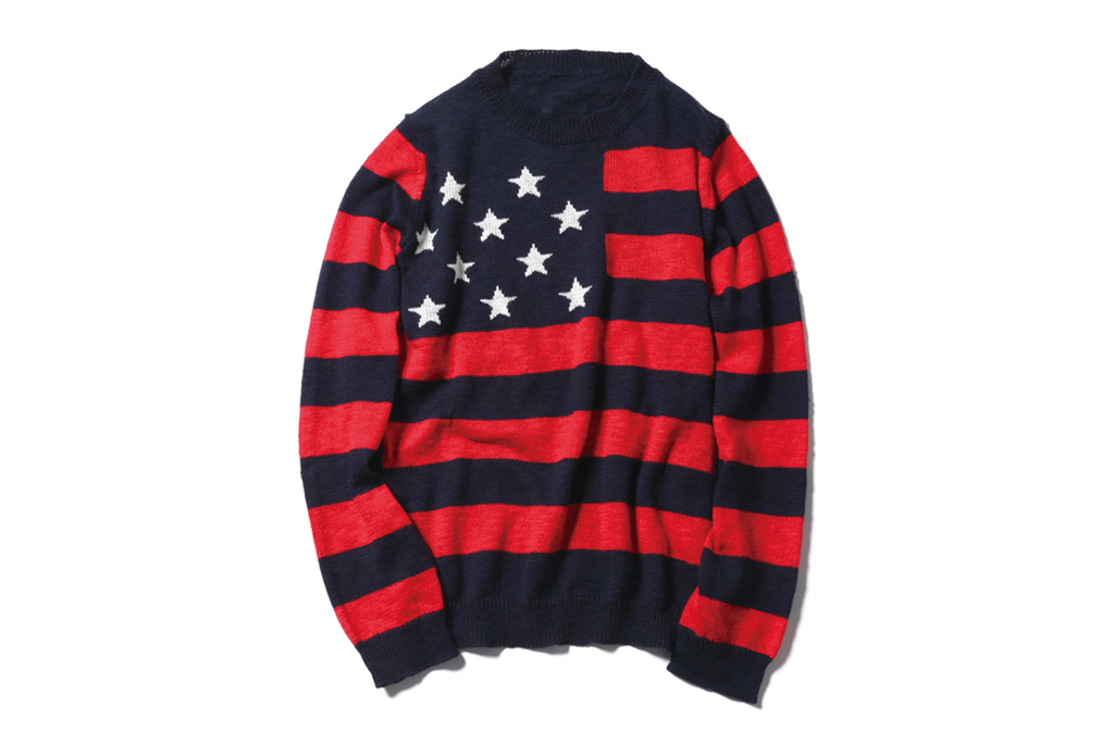 sophnet stars stripes crew neck knit