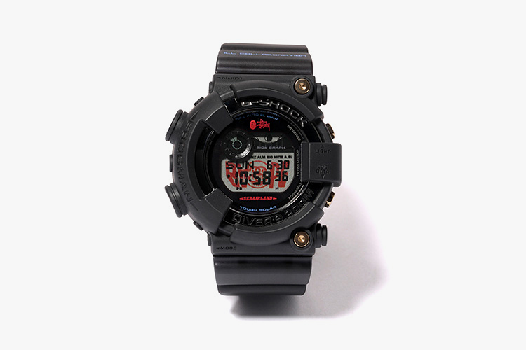 stussy x a bathing ape x casio g shock frogman collection