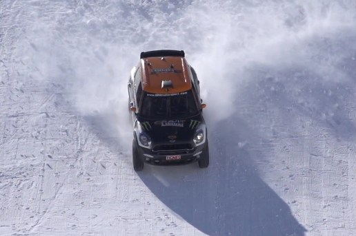 The Mini Countryman Lands a Full Backflip in the Snow