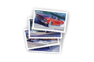 USPS Unveils Official Muscle Cars Stamps