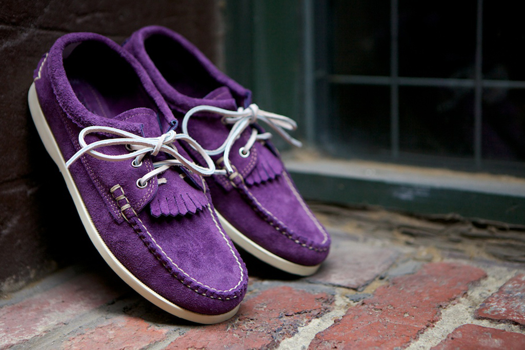"Yuketen 2013 Spring/Summer Blucher Kiltie Shoe ""Lilac"" and ""Multi"""