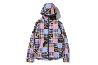 A Bathing Ape 2013 Spring/Summer 1ST CAMO PATCHWORK HOOD JACKET