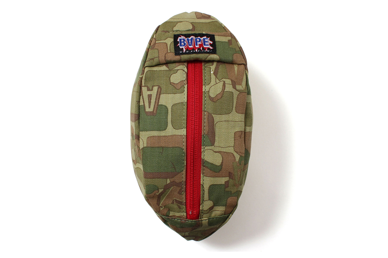 a bathing ape 2013 spring summer explosive camo football pouch