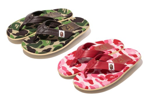 A Bathing Ape x Island Slipper 2013 Spring/Summer ABC THONG