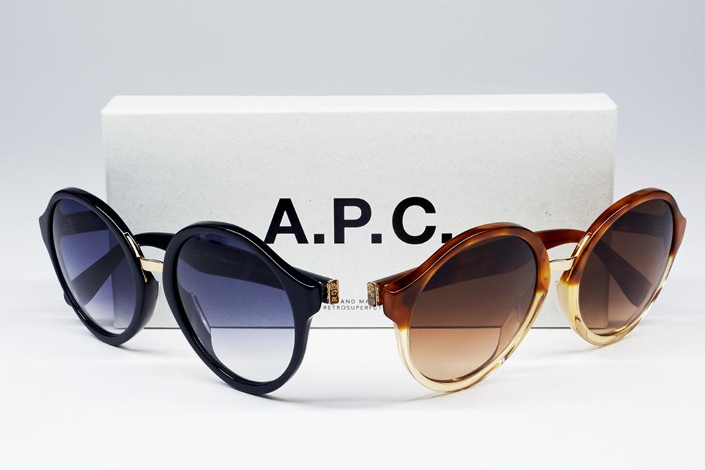 a p c x super 2013 spring summer eyewear collection