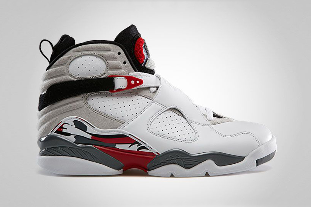 air jordan 8 retro white true red