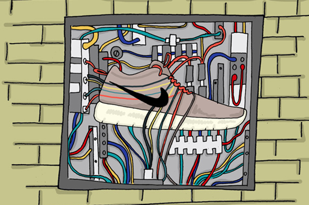 an illustrated preview of nikes 2013 spring summer footwear by josh parkin for the chimp store