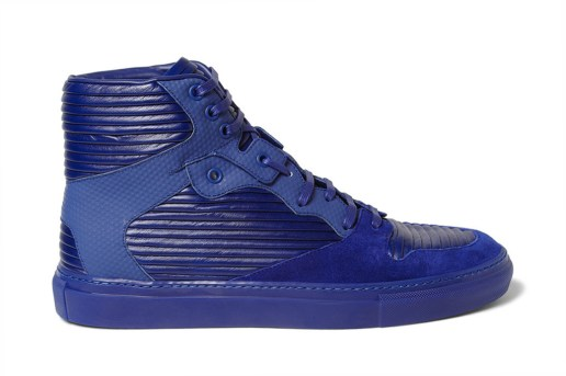 Balenciaga 2013 Spring/Summer Panelled Leather and Suede High Top Sneakers