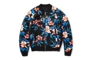 Balenciaga Printed Satin Bomber Jacket