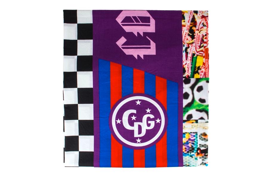 COMME des GARCONS 2013 Spring/Summer Patchwork Soccer Flags Scarf