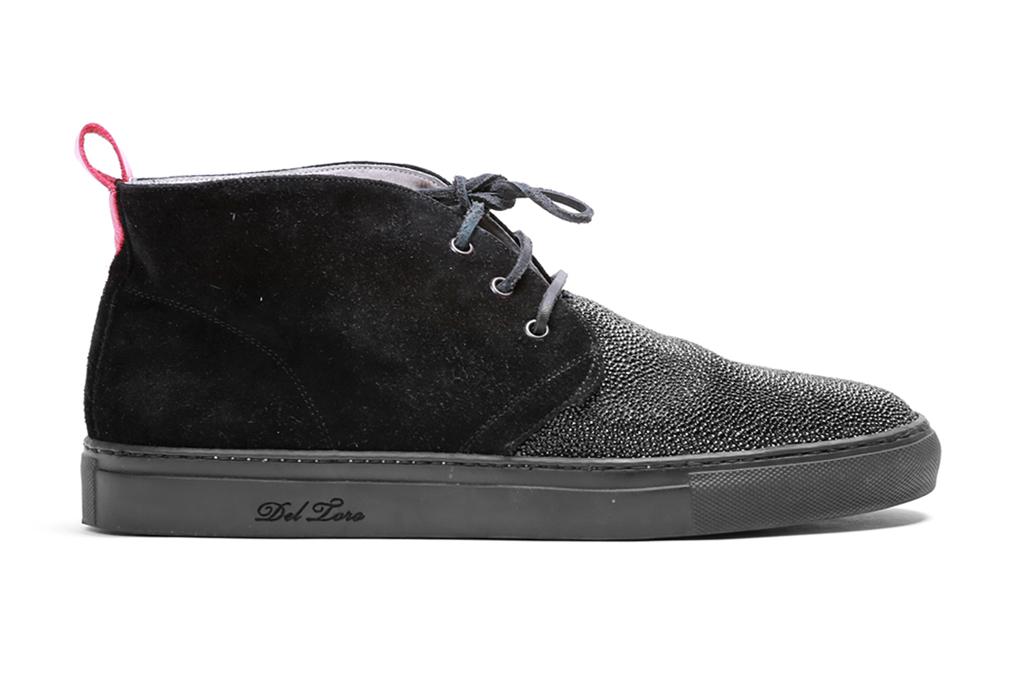 Del Toro Caviar Stingray Panel Alto Chukka Sneaker