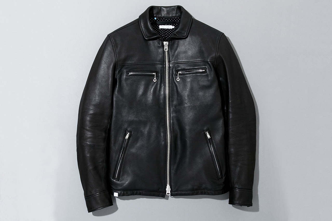 deluxe 2013 spring summer ton up leather jacket