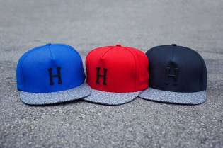 HUF Metal H Quake Strapback Hats