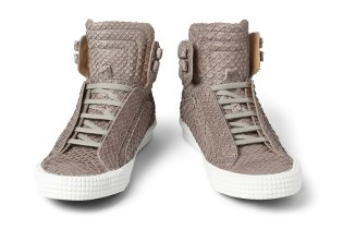 Jimmy Choo Snakeskin-Effect High Tops