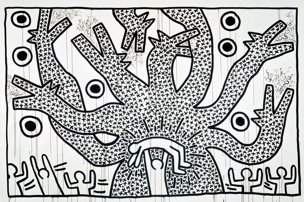 "Keith Haring ""The Political Line"" Retrospective Exhibition @ MAM Paris"