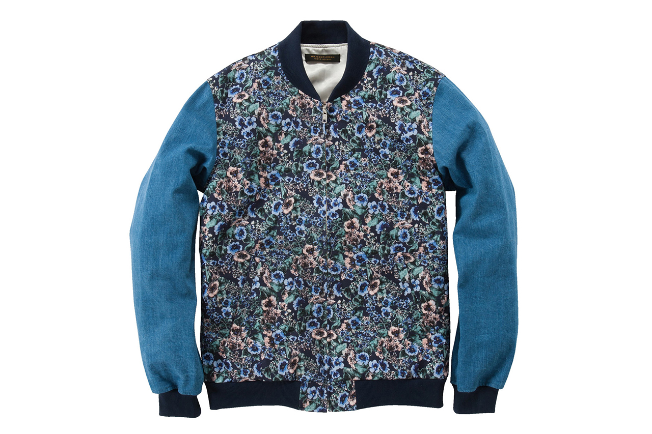 Mr. GENTLEMAN 2013 Spring/Summer Floral Zip-Up Jacket
