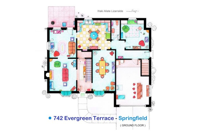 My Modern Metropolis Highlights Floor Plans from The Simpsons, Friends, Seinfeld and More