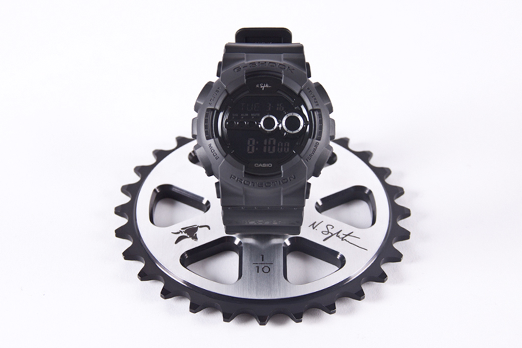 Nigel Sylvester x G-Shock x Animal Bikes Limited Edition Autographed Sprocket Display