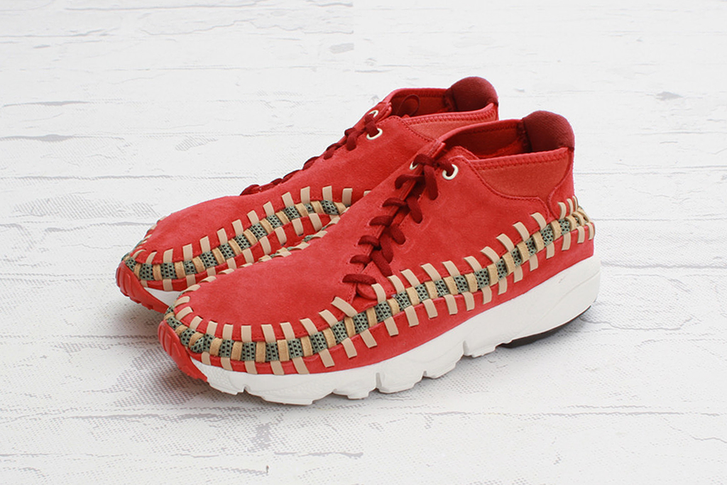 nike air footscape woven chukka knit red reef