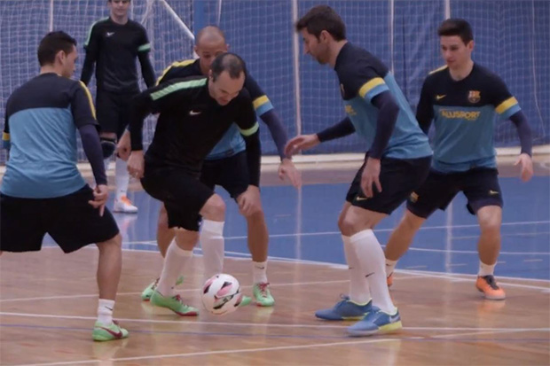 Barcelona's Midfield Maestro Iniesta Discusses Growing-Up Playing Small-Sided Football