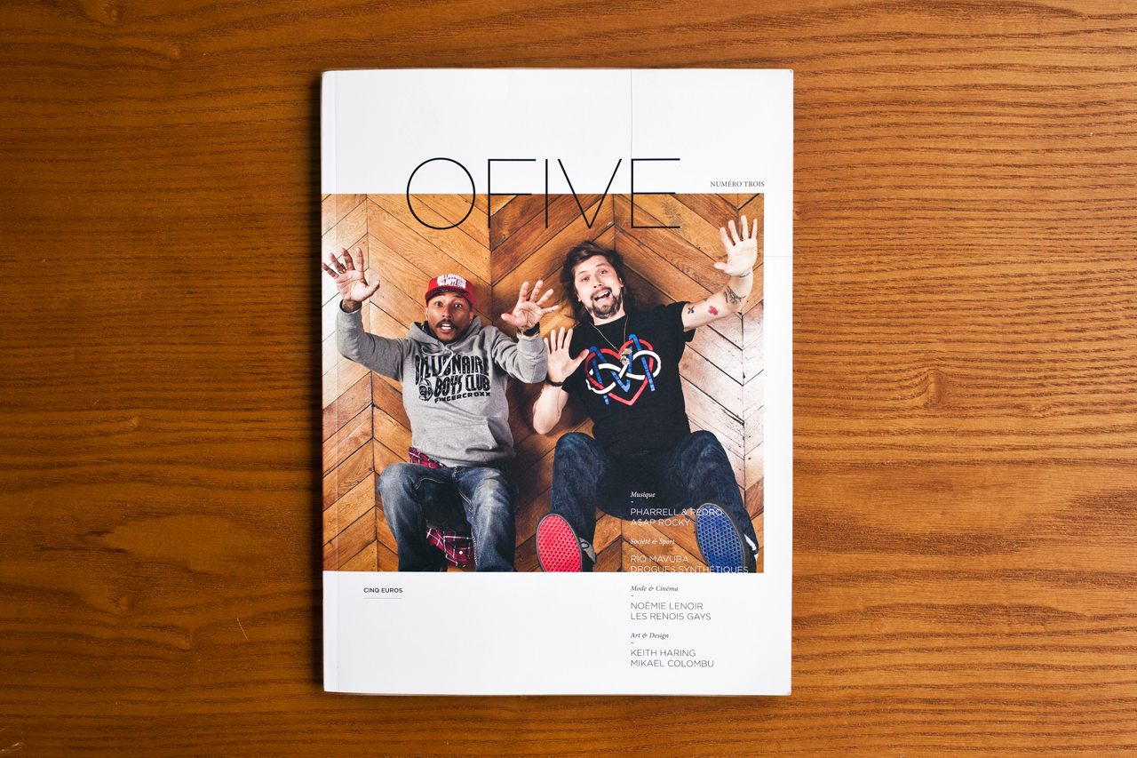 o five magazine issue 3 featuring pharrell williams pedro winter