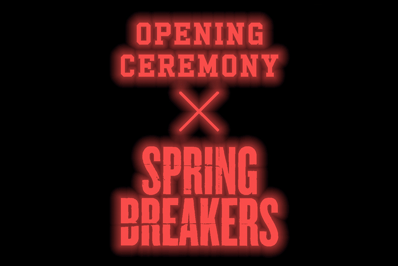 opening ceremony and todd reas james team up with spring breakers