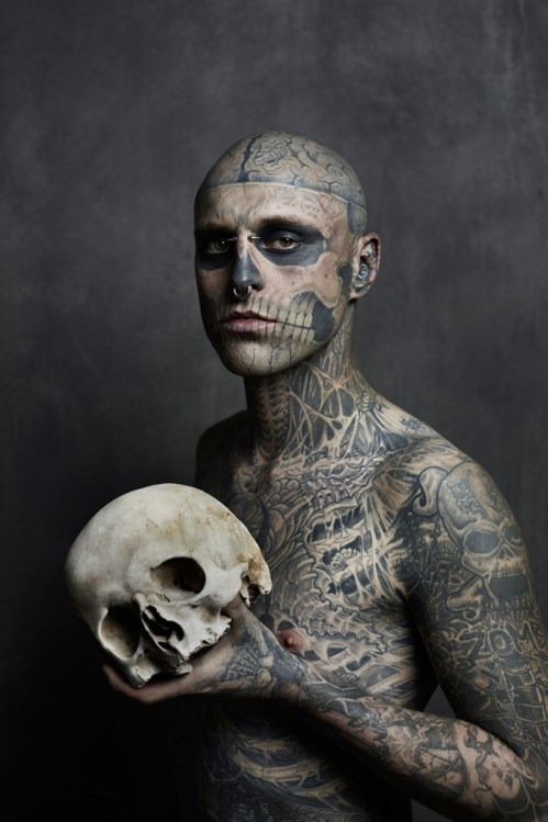 Rick Genest Cover Shoot for Rebel Ink Magazine (NSFW)