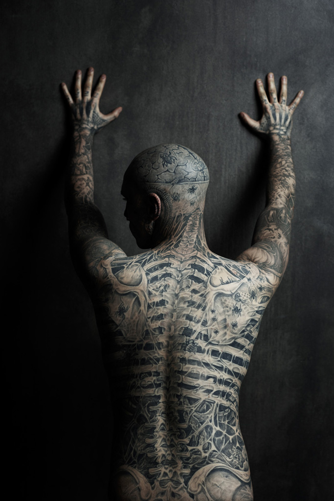 rick genest cover shoot for rebel ink magazine nsfw