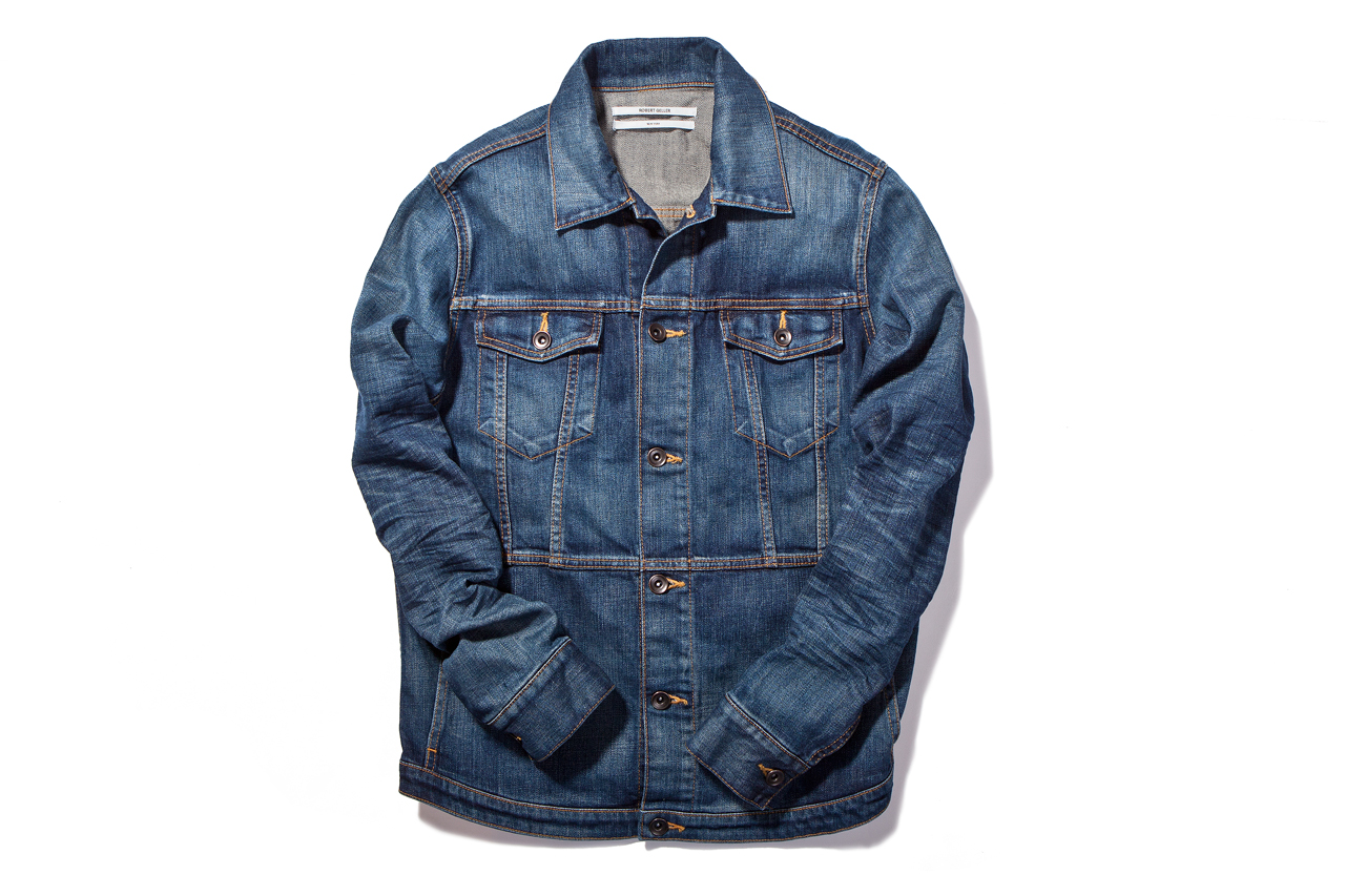 Robert Geller Indigo Denim Trucker Jacket