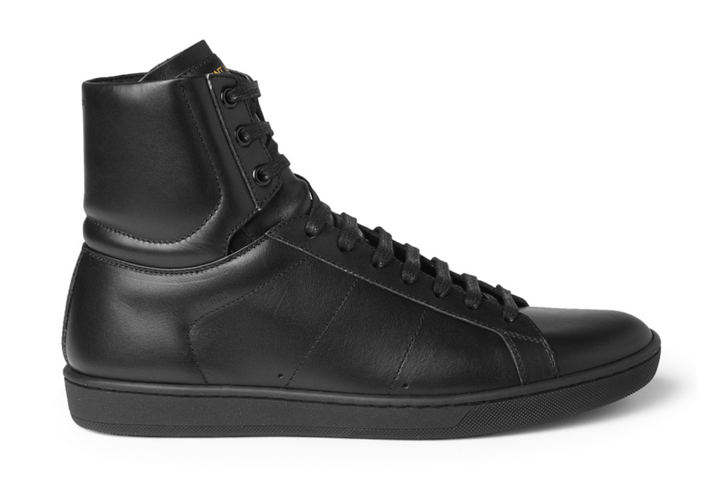 saint laurent 2013 spring summer leather high top sneakers