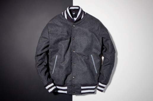 Soulland x House of Billiam Grey Wool Varsity Jacket