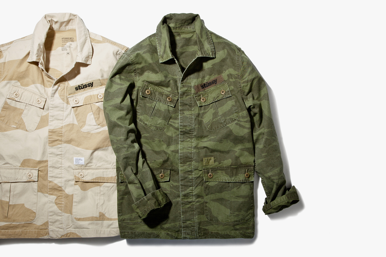 stussy 2013 spring summer jungle camo over shirts