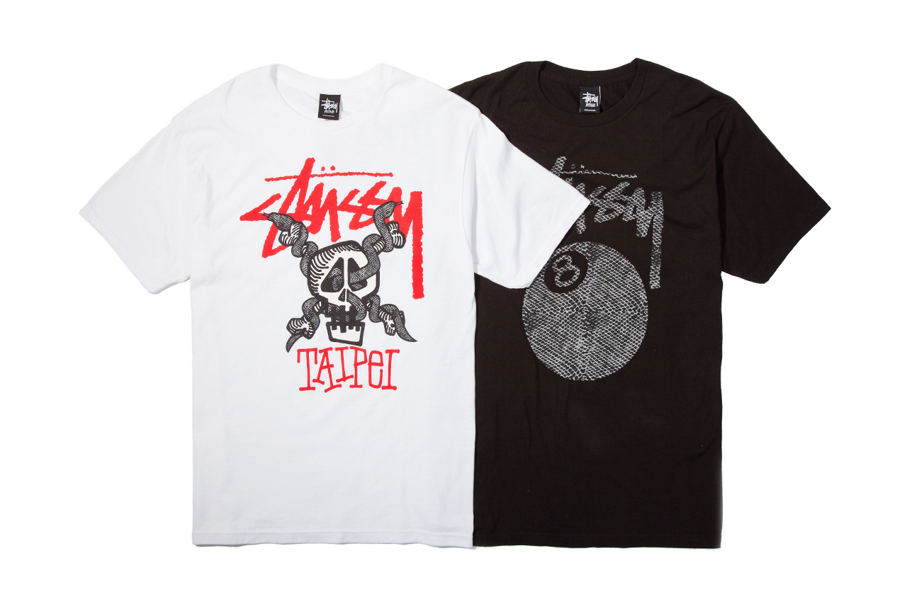stussy taiwan grand opening t shirt collection