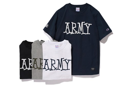 Stussy x Champion Reverse Weave Army Tee