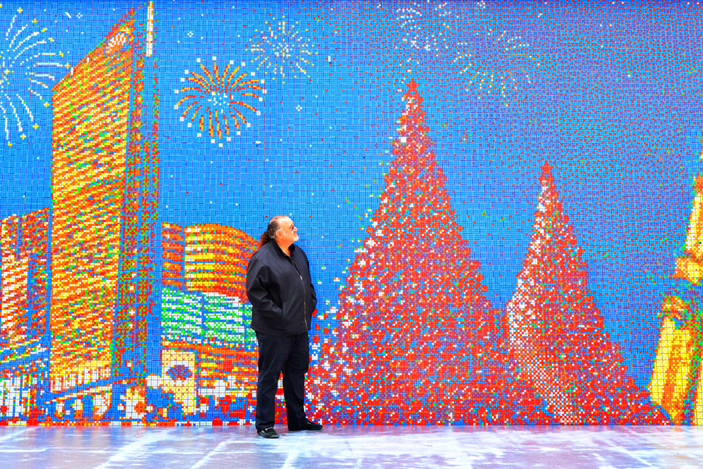 the worlds largest rubiks cube mosaic by cubeworks studio