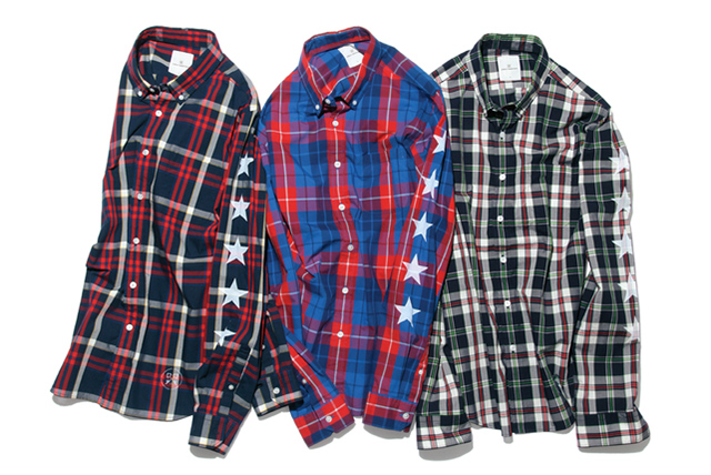 uniform experiment FIVE STAR BROAD CHECK B.D. SHIRT